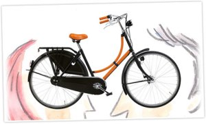 For a mere $4000 you can get an Hermes laquered stainless steel bike with signature orange leather