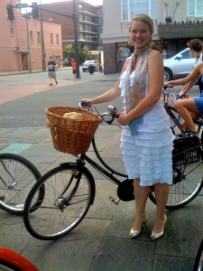 The lovely Amelia is always Cycle Chic